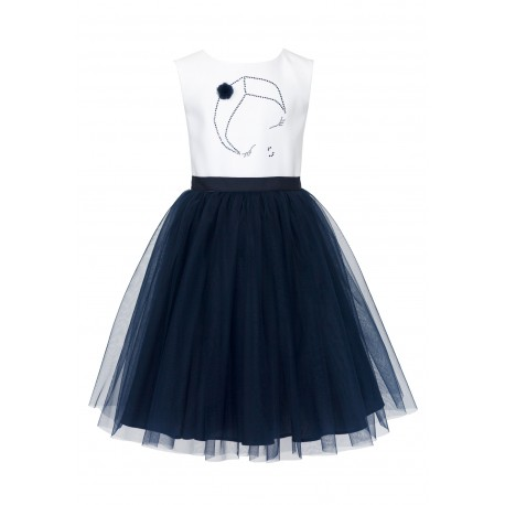 Navy&White Confirmation Dress. 36/SM/18
