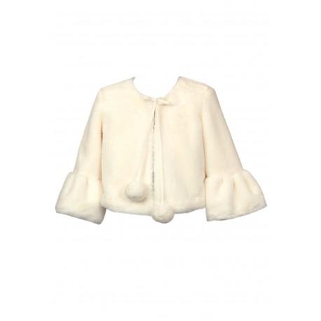 Ivory Faux Fur Bolero Style 49B/SM/18