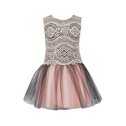 Pretty Pink/Black Confirmation/Special Occasion Dress Style 24/J/17