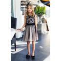 Beautiful Beige and Black Confirmation/Special Occasion Dress Style 18/J/17