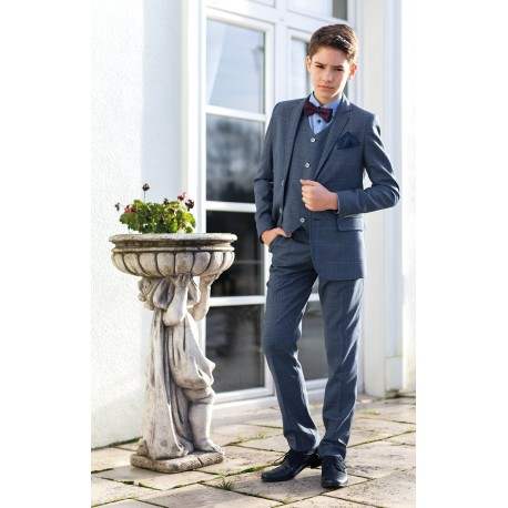 Confirmation 3Piece Checkered Navy Suit Style MONZA 1