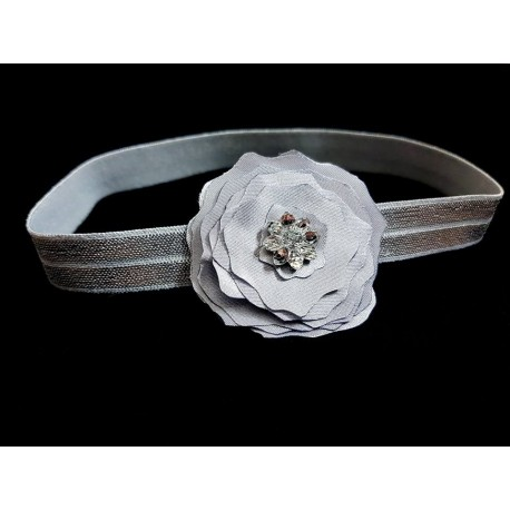 Grey Special Occasion Handmade Headband Style 22