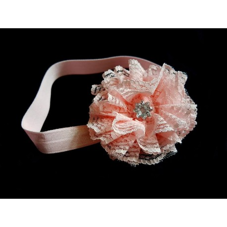 Pink Christening/Special Occasion Headband Style 364