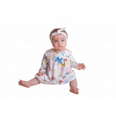 Colorful Baby Girls Special Occasion Dress with Headband Style