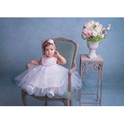White&Pink Christening/Special Occasion Dress Style CARINA