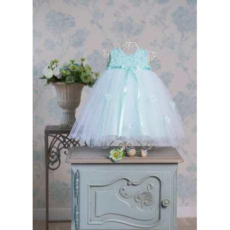 Baby Girl Special Occasion Mint Dress Style CARINA MINT