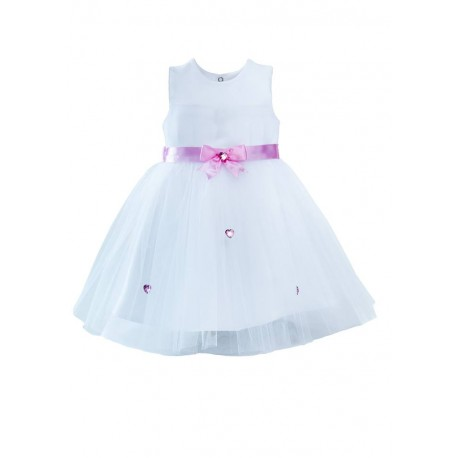 White/Pink Christening/Special Occasion Dress Style SUSAN