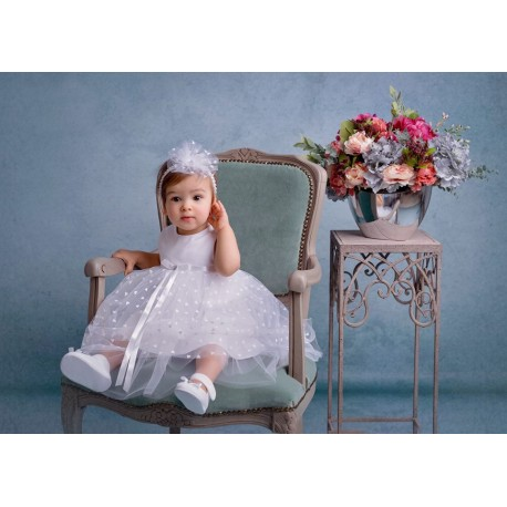 White Christening/Special Occasion Dress Style POLA