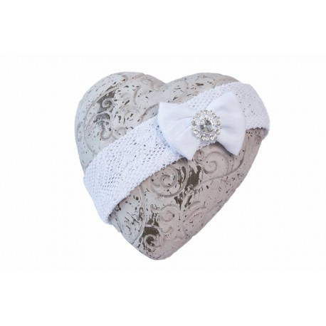 White Christening/Special Occasion Headband Style ANNA