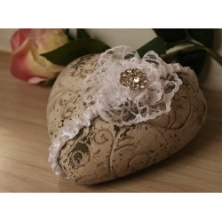 White Christening/Special Occasion Headband Style LOUISE