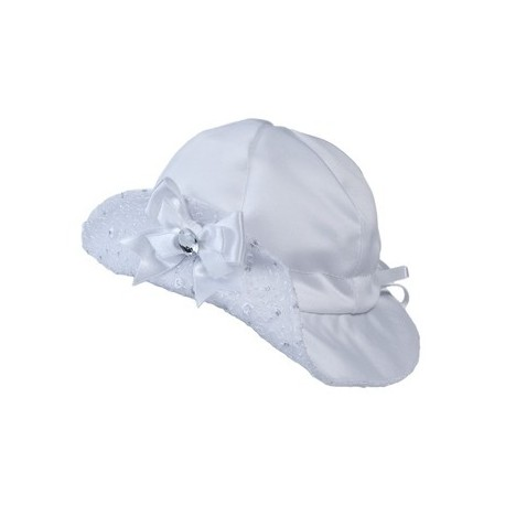 White Christening/Special Occasion bonnet Style BONNET NIKA