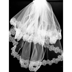 White First Holy Communion Veil by Little People Style 2086