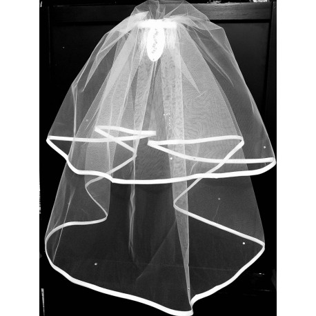 3ea759887 First Holy Communion Veil with Cross Style CV134