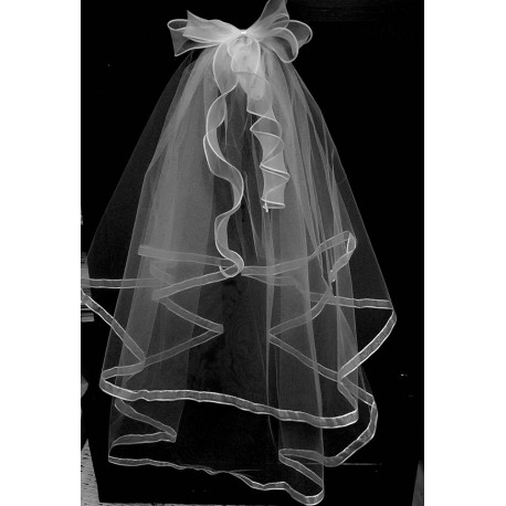 5957103b8 First Holy Communion Veil with Bow Style CV147