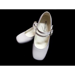 Satin First Holy Communion Shoes Style ANNA