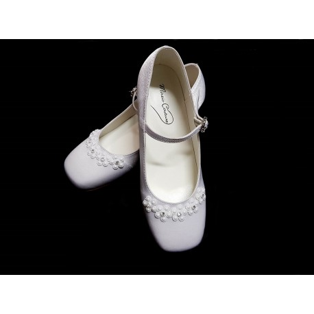 First Holy Communion/Special Occasion Satin Shoes Style CLARA