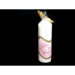 Hand Painted Baptism Candle Model CHRP20