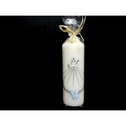 Hand Painted Baptism Candle Model CHRB11