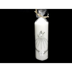 Hand Painted Baptism Candle Model CHRW11