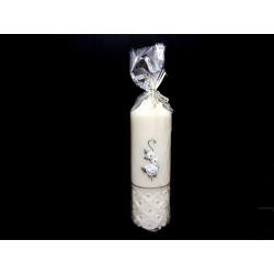 HAND PAINTED BAPTISM CANDLE MODEL CHPW11