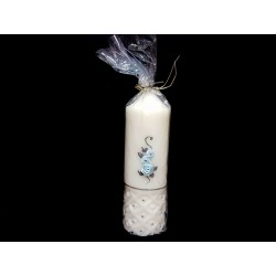 HAND PAINTED BAPTISM CANDLE MODEL CHPB11