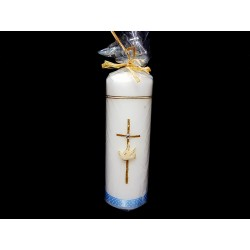 Hand Painted Baptism Candle Model GB2