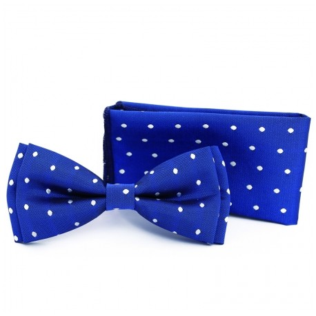 Blue/White first Holy Communion/Special Occasion Bowtie with Pocket Square Style F4