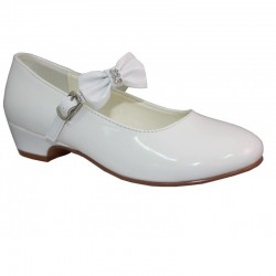 FIRST HOLY COMMUNION/SPECIAL OCCASION IVORY LEATHER SHOES STYLE DANIELLE