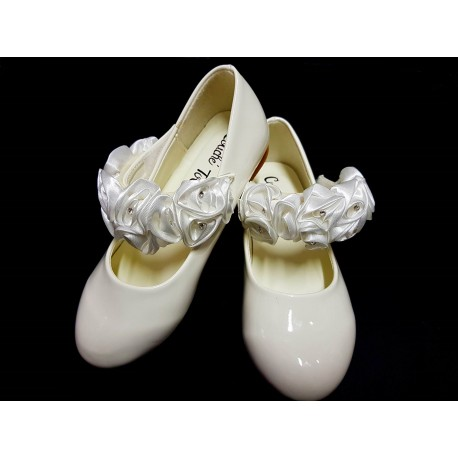 Ivory Special Occasion Leather Shoes Style 1719-116