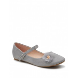 Girls Special Occasion Grey Shoes Style IRIS