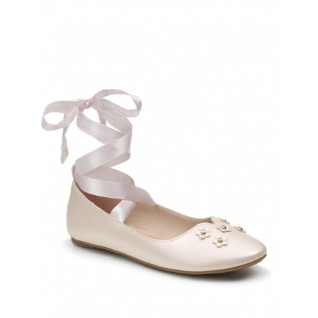 Girls Special Occasion Peach Shoes Style PEONY