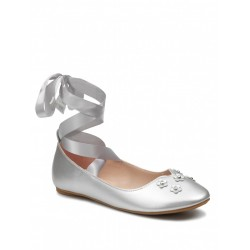 Girls Special Occasion Silver Shoes Style PEONY