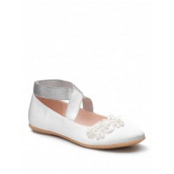 Satin Ivory Special Occasion Girls Shoes Style PETUNIA