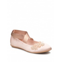 Satin Peach Special Occasion Girls Shoes Style PETUNIA