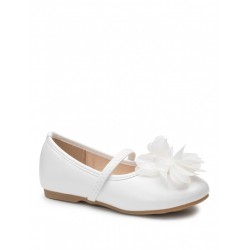 Baby Girl White Flower Special Occasion Shoes Style BLOOM