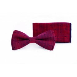 Elegant Holy Communion Special Occasion Burgundy Bow Tie and Pocket Square Style F14