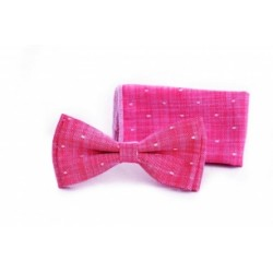 Light Red Bow Tie and Handkerchief Holy Communion Style F 13