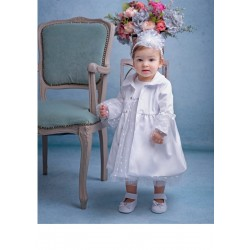 White Christening/Special Occasion Baby Girl COAT POLA