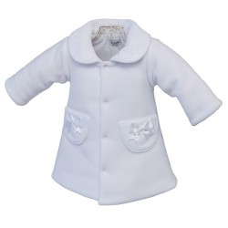 White Christening/Special Occasions Fleece COAT BLANCA