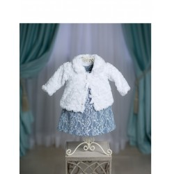 White Christening/Special Occasion FUR JACKET