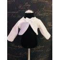 White Christening/Special Occasion Fleece Bolero with Lace