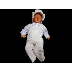 White Baby Boy Christening Suit Style MATTHEW