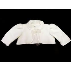 Ivory Christening Baby Girl Fleece Bolero Style BOLERO 01