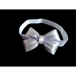 White/Grey Handmade Special Occasion Headband Style 356