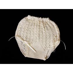 Ivory Unisex Christening/Baptism crochet Knickers Style B312-V18