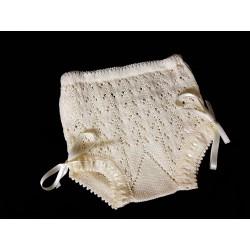Ivory Unisex Christening/Baptism Crochet Knickers Style B305-V18