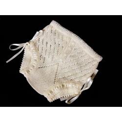 Ivory Unisex Christening/Baptism Crochet Knickers Style B306-V18