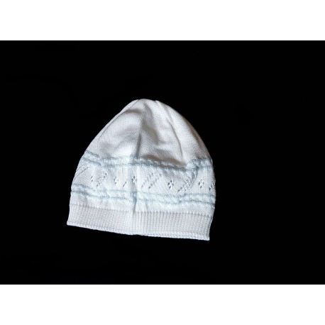 Baby Boy White/Blue Christening/Special Occasion Hat Style PHILLIP HAT