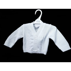 White Baby Boy Christening/Special Occasion Cardigan Style BRAYLON