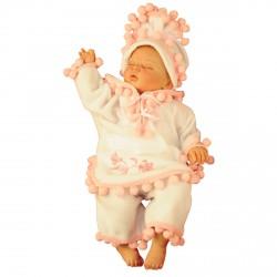 Baby Girl Pink Pancho